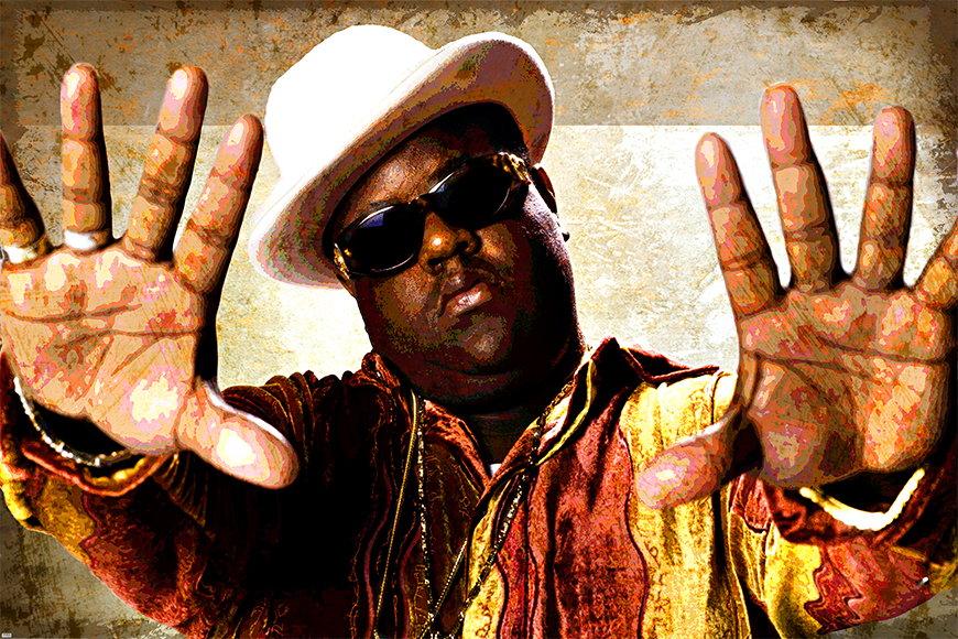 Carta da parati hip hop con foto Biggi da 120x80cm
