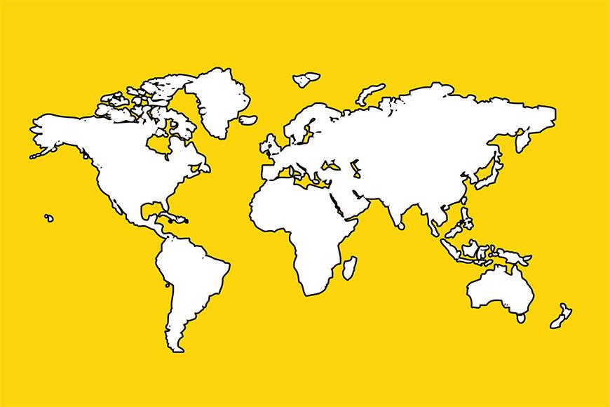 Carta del mondo: Mappa del Mondo da 120x80cm