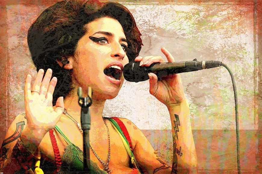 Eroina della musica: Amy da 120x80cm