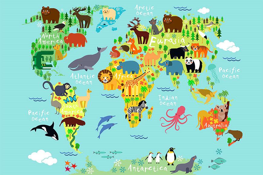 La carta da parati Colorful World