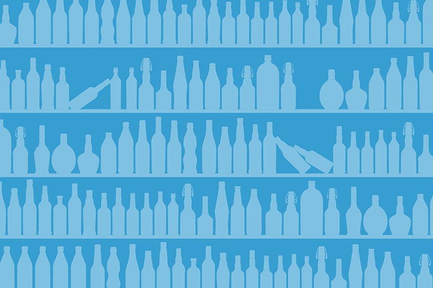 La carta da parati TNT Blue Bottles da S a XXL