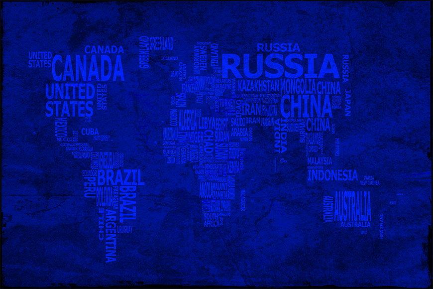 La carta da parati TNT Carta del mondo 10 da 120x80cm