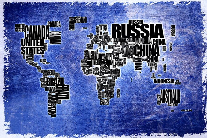 La carta da parati TNT Carta del mondo 2 da 120x80cm