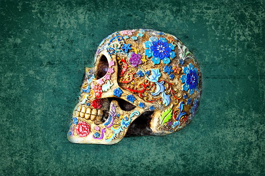 La carta da parati TNT Colorful Skull