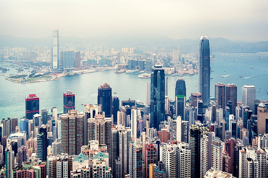 La carta da parati TNT Hongkong Skyline da 120x80cm