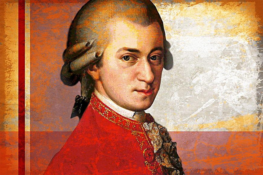 La carta da parati TNT Mozart in 6 dimensioni