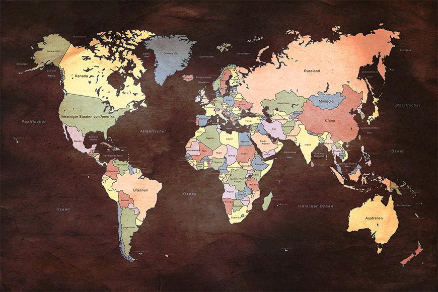 La carta da parati TNT Old Worldmap 2 da 120x80cm