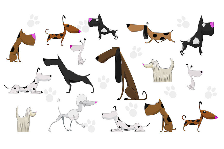 La nostra carta da parati Cartoon Dogs