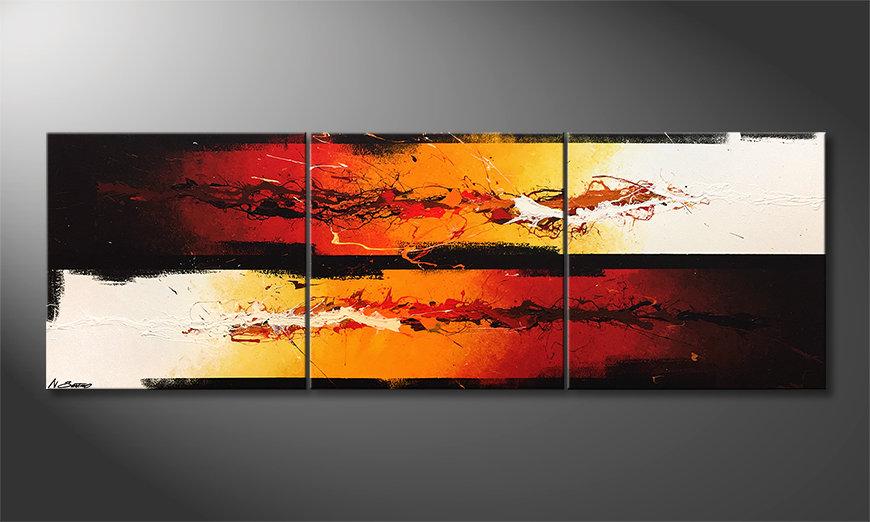 Arte moderna Battle Of Fire 210x70x2cm