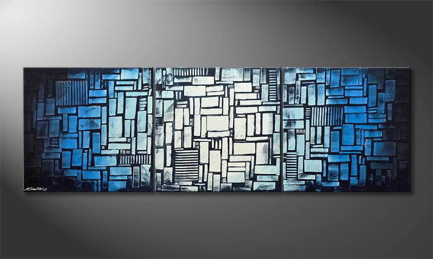 Arte moderna Cubic Waves 210x70x2cm