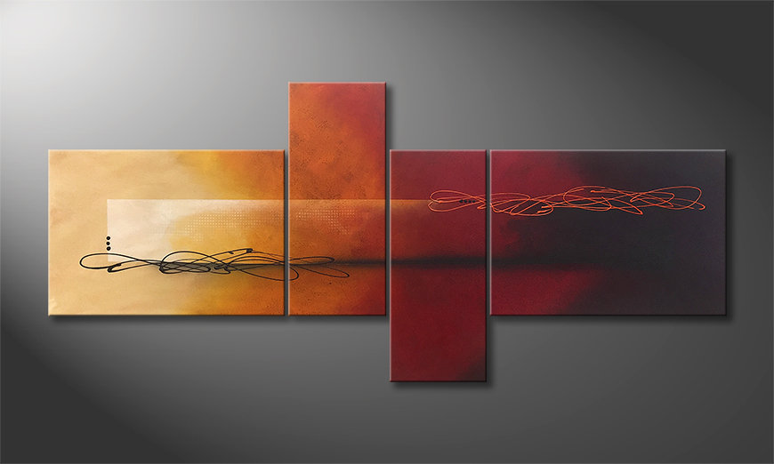Arte moderna Into the Night 200x90x2cm