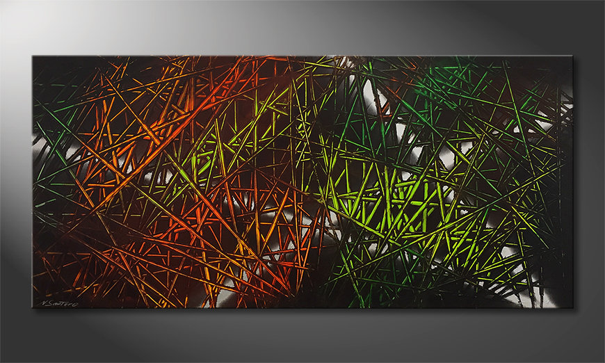 Arte moderna Jungle Fever 150x70cm