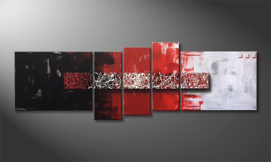 La bella pittura Contrast Lines 210x80x2cm