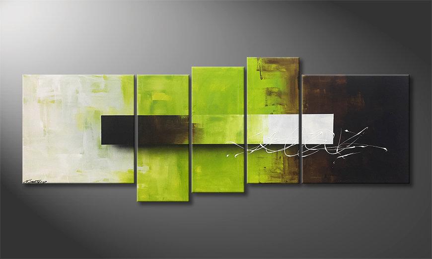 La nostra pittura Green Day 210x80x2cm