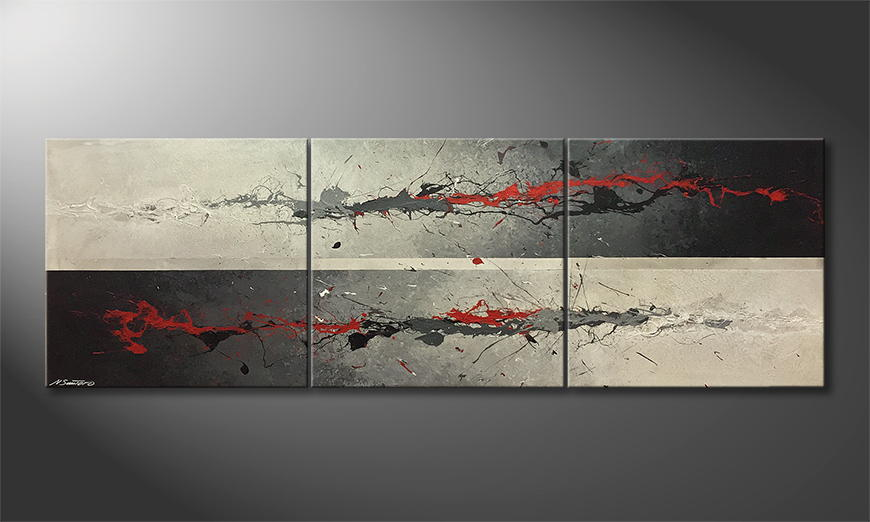 La nostra pittura Sparkeling Red 240x80x2cm