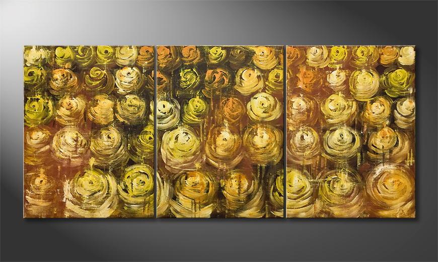 Quadro Golden Summer 180x80x2cm