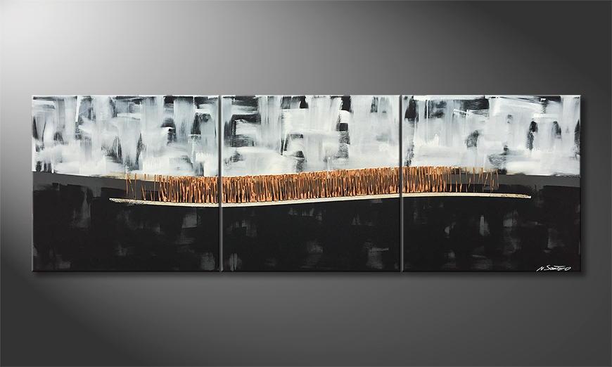 Quadro da soggiorno Copper Horizon 210x70x2cm