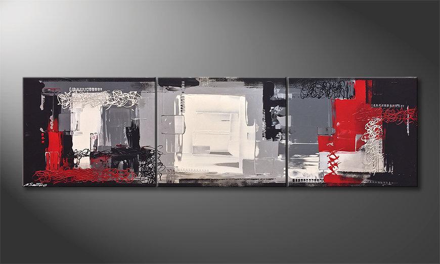 Quadro da soggiorno inception 210x60cm quadri xxl