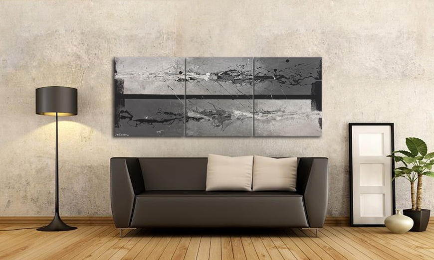 Quadro da soggiorno liquid ice 180x70cm