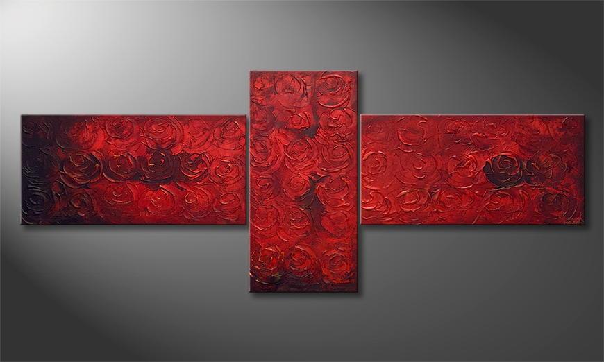 Quadro da soggiorno Midnight Roses 250x100x2cm
