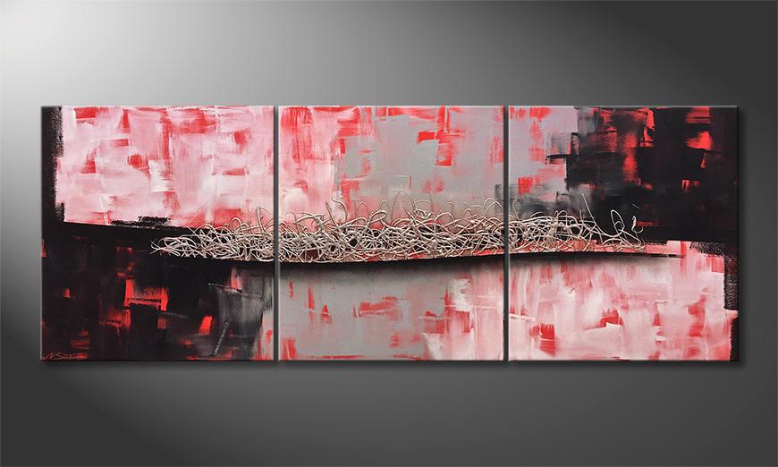 Quadro da soggiorno Silver Afterglow 210x80x2cm