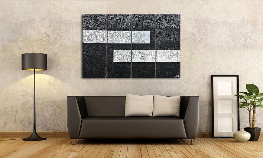 Quadro da soggiorno White vs. Black 120x80cm - Quadri XXL